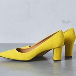 パンプス黄色